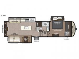 Montana High Country 310RE Floorplan Image
