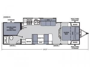 Apex Ultra-Lite 288BHS Floorplan Image