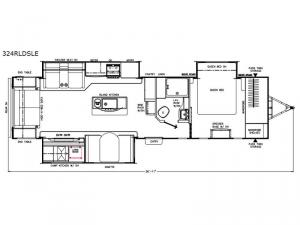 Freedom Express Liberty Edition 324RLDSLE Floorplan Image