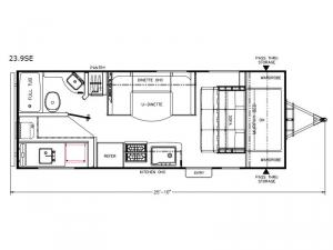 Freedom Express Select 23.9SE Floorplan Image