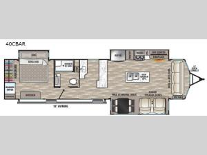 Cedar Creek Cottage 40CBAR Floorplan Image