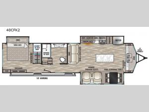 Cedar Creek Cottage 40CFK2 Floorplan Image