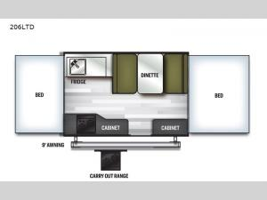 Flagstaff MAC Series 206LTD Floorplan Image
