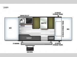 Flagstaff MAC Series 206M Floorplan Image