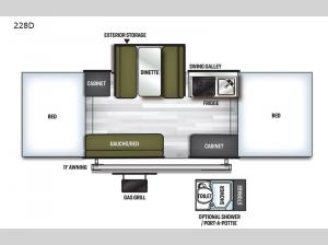 Flagstaff MAC Series 228D Floorplan Image