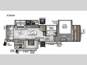 Rockwood Signature Ultra Lite 8288SB Floorplan Image