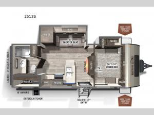Rockwood Mini Lite 2513S Floorplan Image