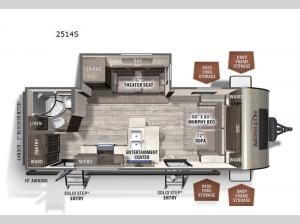 Rockwood Mini Lite 2514S Floorplan Image