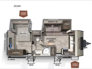 Rockwood Mini Lite 2516S Floorplan Image
