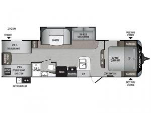 Passport 292BH SL Series Floorplan Image