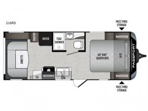 Passport 216RD Express Floorplan Image