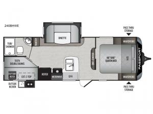 Passport 240BHWE Express Floorplan Image