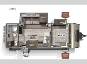 Rockwood Mini Lite 2511S Floorplan Image