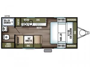 Wildwood FSX 187RB Floorplan Image