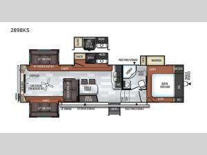 Rockwood Ultra Lite 2898KS Floorplan Image