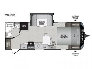 Passport 2210RBWE Grand Touring Floorplan Image