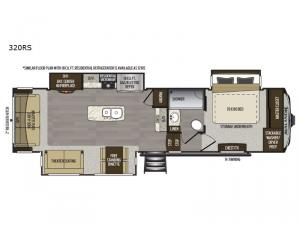 Avalanche 320RS Floorplan Image