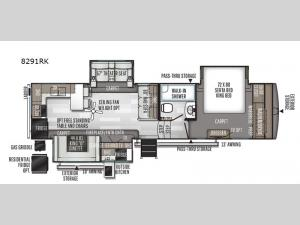 Rockwood Signature Ultra Lite 8291RK Floorplan Image