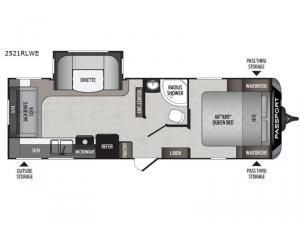 Passport 2521RLWE Grand Touring Floorplan Image