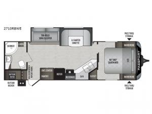 Passport 2710RBWE Grand Touring Floorplan Image