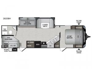 Passport 2820BH Grand Touring Floorplan Image