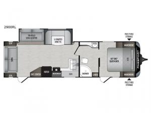 Passport 2900RL Grand Touring Floorplan Image