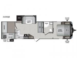 Passport 3100QB Grand Touring Floorplan Image