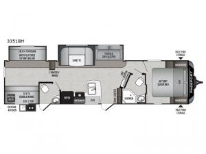 Passport 3351BH Grand Touring Floorplan Image