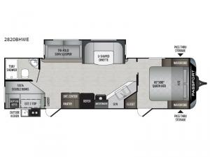 Passport 2820BHWE Grand Touring Floorplan Image