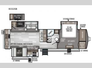 Rockwood Signature Ultra Lite 8332SB Floorplan Image
