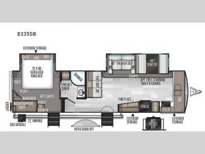 Rockwood Signature Ultra Lite 8335SB Floorplan Image