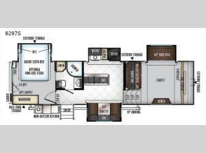 Rockwood Signature Ultra Lite 8297S Floorplan Image
