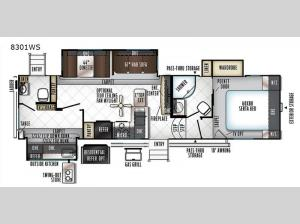Rockwood Signature Ultra Lite 8301WS Floorplan Image
