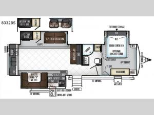 Rockwood Signature Ultra Lite 8332BS Floorplan Image