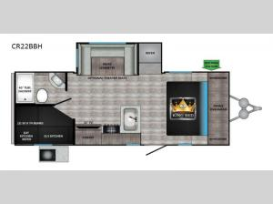 Cruiser Aire CR22BBH Floorplan Image