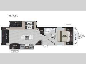Kodiak Ultra-Lite 313RLSL Floorplan Image