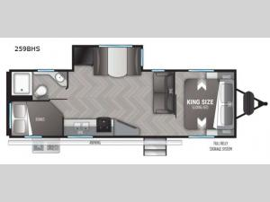 Shadow Cruiser 259BHS Floorplan Image