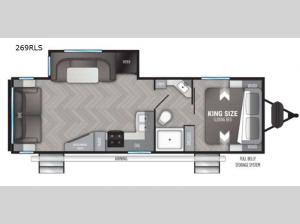 Shadow Cruiser 269RLS Floorplan Image