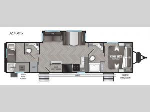 Shadow Cruiser 327BHS Floorplan Image
