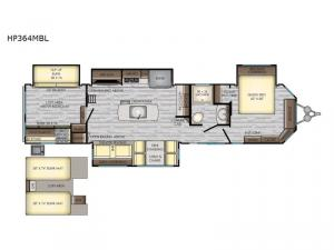 Hampton HP364MBL Floorplan Image