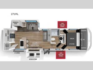 Wildcat 271ML Floorplan Image