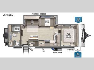 Grand Surveyor 267RBSS Floorplan Image