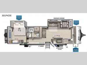 Grand Surveyor 301FKDS Floorplan Image