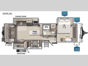 Grand Surveyor 302RLOK Floorplan Image