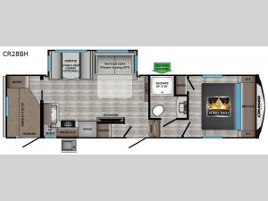 Cruiser Aire CR28BH Floorplan Image