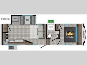 Cruiser Aire CR27MK Floorplan Image