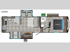 Cruiser Aire CR29RK Floorplan Image