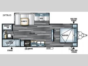 Salem 26TBUD Floorplan Image