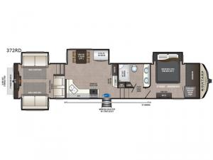 Montana High Country 372RD Floorplan Image