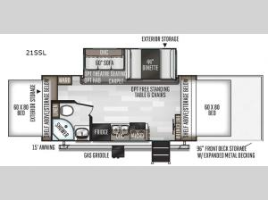 Rockwood Roo 21SSL Floorplan Image